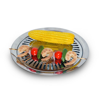 New!  SilverFire Stainless Steel Grill Plate