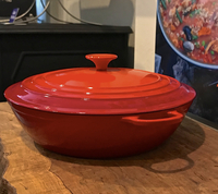 Image Cast Iron Casserole Pot & Lid