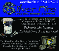 Image Backwoods Biker Bush Stove Kit of the Year!