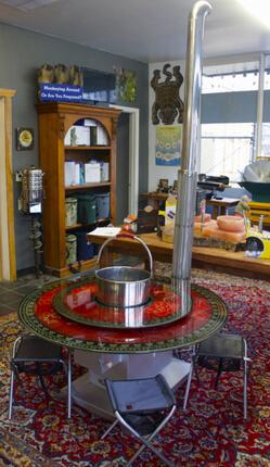 Hotpot Table Stove Xl Chimney Stoves