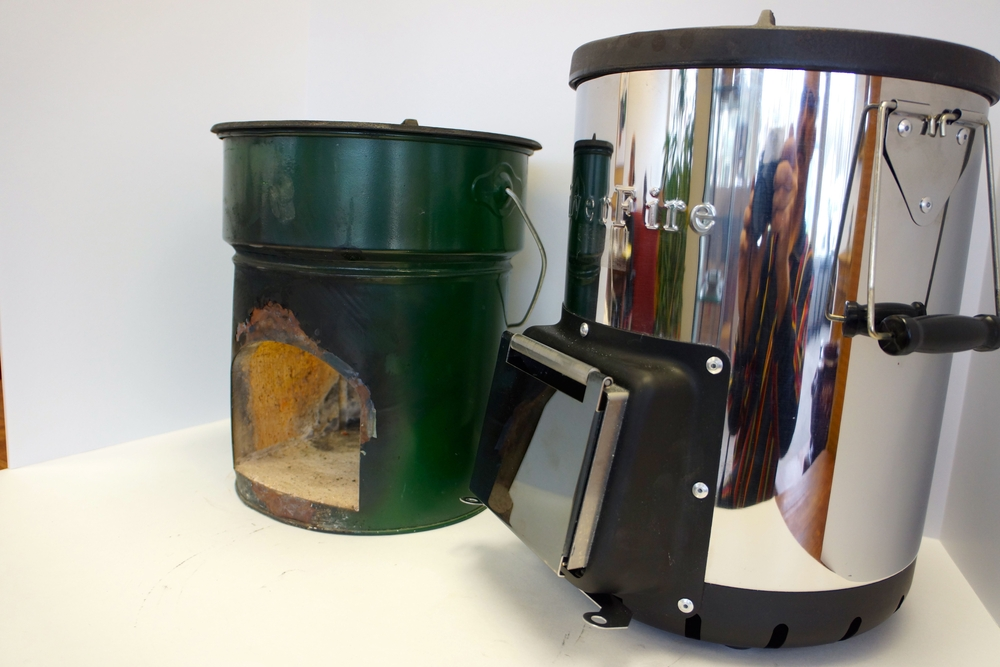 Survival stove backpacking stove portable wood stove for Most efficient rocket stove design